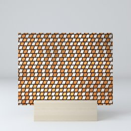 Irregular Chequers - Steel and Copper - Industrial Chess Board Pattern Mini Art Print