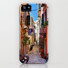 Alley in Corfu Town, Greece iPhone Case