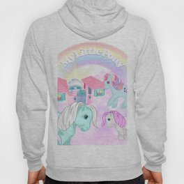 vintage g1 my little pony tribute collage Hoody