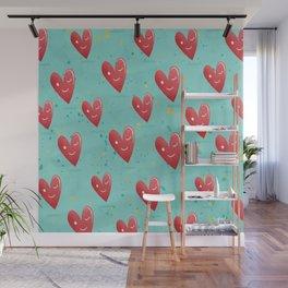 flirtatious heart pattern  Wall Mural