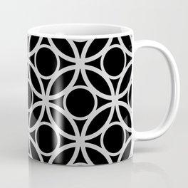 Black and Gray Circular Pattern Coffee Mug