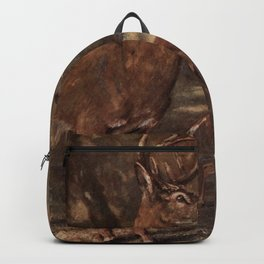 Vintage Virginia Deer Painting (1909) Backpack
