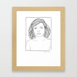 ANDY WARHOL POLAROIDS - DEBBIE-BLONDIE.  PORTRAIT    Framed Art Print