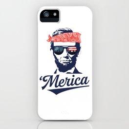 Merica Abraham Lincoln iPhone Case