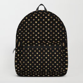 Gold & Black Polka Dots Backpack