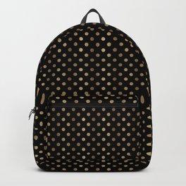 Gold & Black Polka Dots Backpack