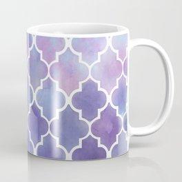 Purples & Pinks Watercolor Moroccan Pattern Coffee Mug