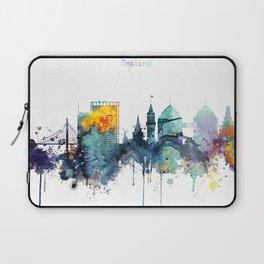 Watercolor Oakland skyline cityscape Laptop Sleeve