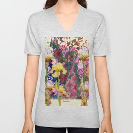 Decorative Yellow & Pink Spring Unisex V-Neck