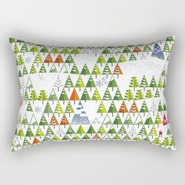 Barnål Snø - Pine Needle Snow  Rectangular Pillow