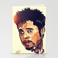 brad pitt Stationery Cards featuring Mr Pitt  by ConnorEden