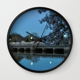 Dawn and Blossoms Wall Clock