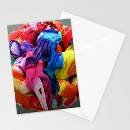 Abstract Colorful Sphere Stationery Cards