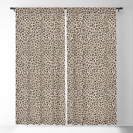BLACK and WHITE LEOPARD PRINT – Ecru | Collection : Leopard spots – Punk Rock Animal Prints. Blackout Curtain