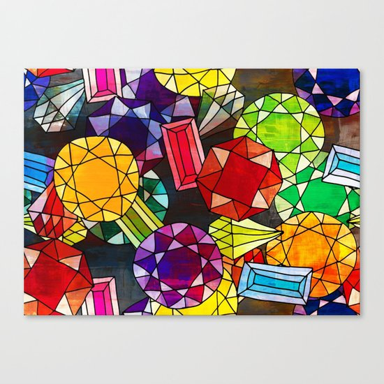 Gemstones Canvas Print