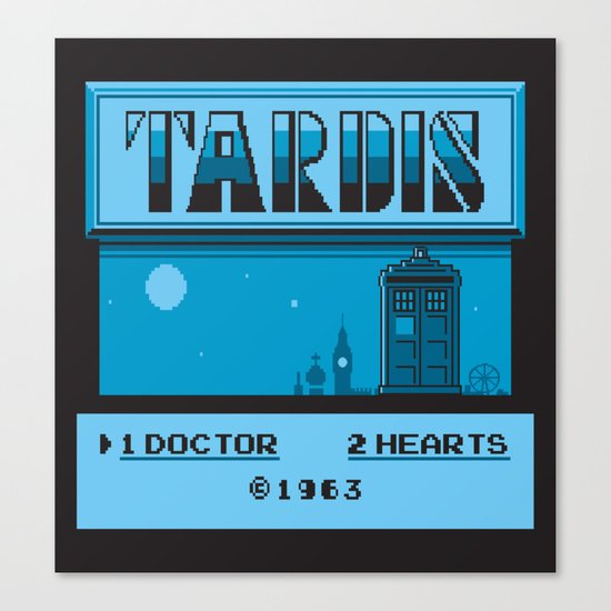 1 Doctor, 2 Hearts Canvas Print