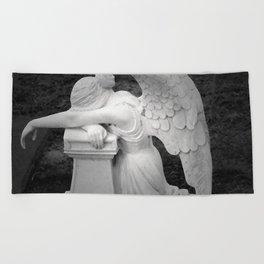 crying angel Beach Towel
