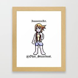 InsanitynArt Presents the Staardust Sprite of Cosplay Artist Jess Staardust. Framed Art Print