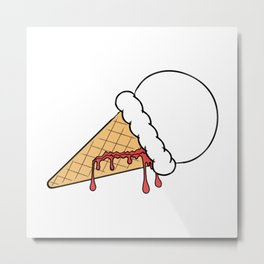 Bloody Ice Cream Metal Print