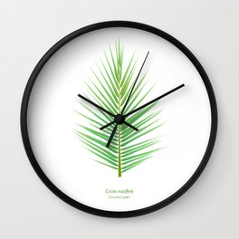 Tropical Vibes Collection: Cocos nucifera Wall Clock