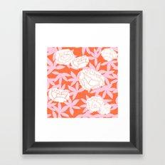 Zen Floral _ pink& coral Framed Art Print