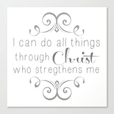 I can do all things... Canvas Print