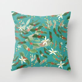 coffe plant Throw Pillow