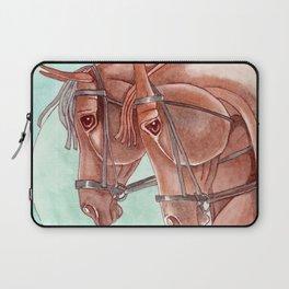 Horses On Fuchsite Moon Laptop Sleeve