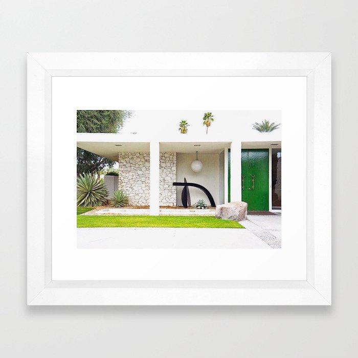 Kelly Green Door Palm Springs Framed Art Print