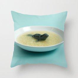 Sea lion soup Throw Pillow