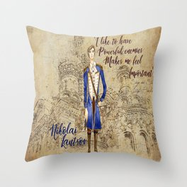 Nikolai Lantsov Throw Pillow