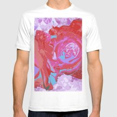 Roses Mens Fitted Tee MEDIUM White
