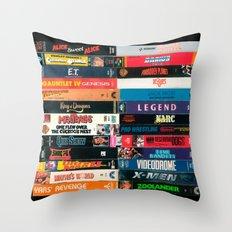 VHS - V.G. (A-Z) Throw Pillow