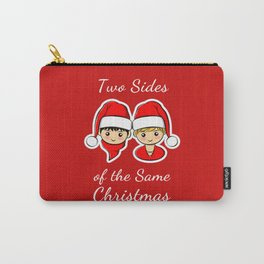 Two Sides of the Same Christmas Carry-All Pouch
