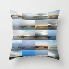 The Many Faces of the Fremont Bridge Throw Pillow
