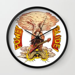 Heavy Metal Power Slide. Wall Clock