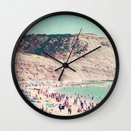 beach love V Wall Clock