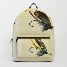 Illustrated Salmon Fly Fishing Game Fish Identification Chart Backpack
