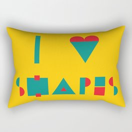 I heart Shapes Rectangular Pillow