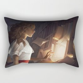 The Reader Rectangular Pillow