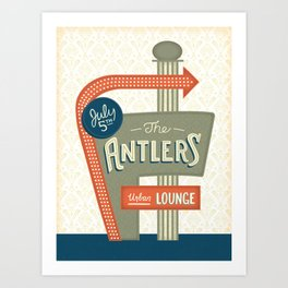 The Antlers Gig Poster Art Print
