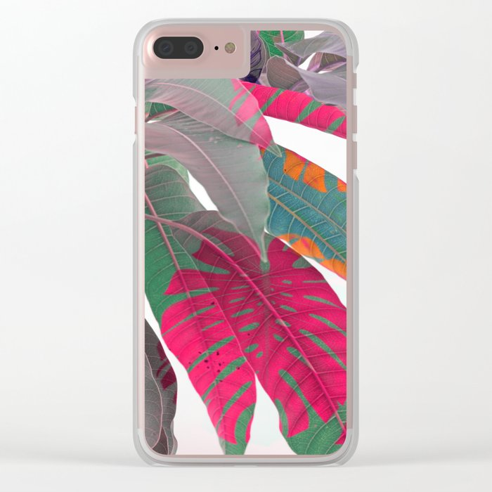 Tropical abstract 5 Clear iPhone Case