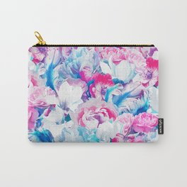 FLORAL GARDEN Peony & Magnolia Carry-All Pouch