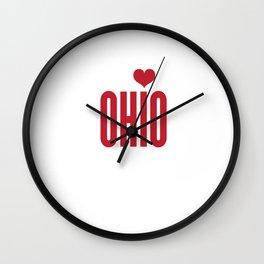 Ohio Heart Wall Clock