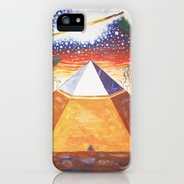 The Cydonia pyramid by the time there was life on Mars iPhone Case