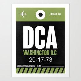DCA Washington Luggage Tag 2 Art Print