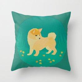 Springtime Shibe Throw Pillow