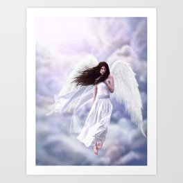 Some Clouds Have Wings Art Print