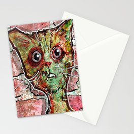 Chester the zombie cat Stationery Cards