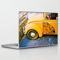 volkswagon Laptop & iPad Skins featuring vintage vw and door art by robertbuttery